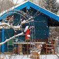 Auch im Winter ein schöner Anblick: die eigene Gartenlaube. <br />(Bild: Jörg Schnöring)